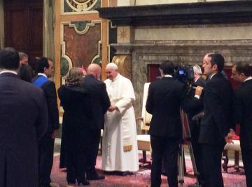 Delegazione calabrese guidata da Oliverio ricevuta in udienza da Papa Francesco