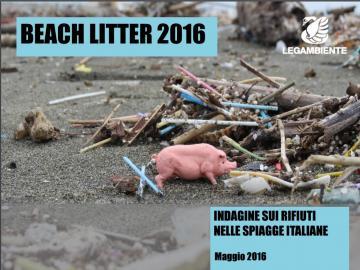 Beach Litter 2016:  indagine sui rifiuti nelle spiaggie italiane,su 47 campionate due sono calabresi