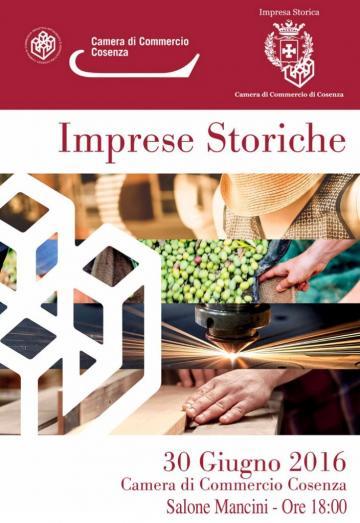 La CCIAA  premia le imprese storiche della provincia di Cosenza