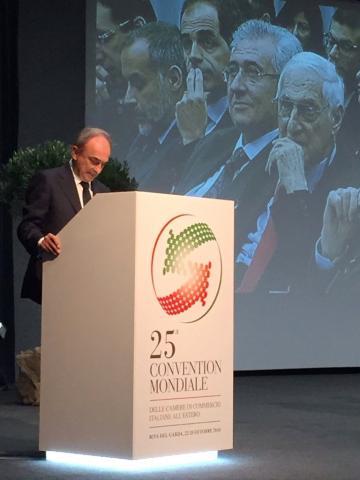 La CCIAA di Cosenza presente alla Convention Mondiale delle Camere di Commercio italiane all'estero