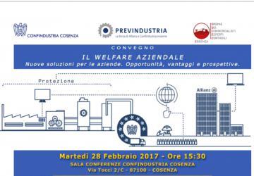 Welfare aziendale. Seminario a Cosenza di Confindustria, Previndustria e Ordine dei Commercialisti