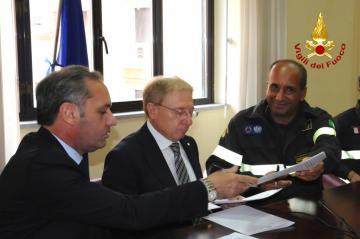 Parco del Pollino: firmata convenzione per la presenza dei Vigili del Fuoco