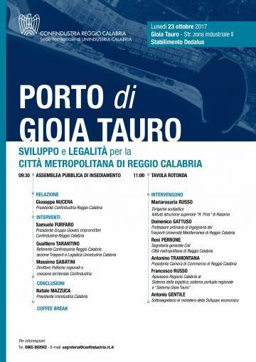 A Gioia Tauro l'assemblea pubblica di Confindustria Reggio Calabria